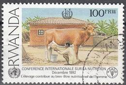 Rwanda 1995 Michel 1453C O Cote (2005) 6.00 Euro L'élevage Cachet Rond - Rwanda