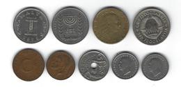 Lot De 9 Pièces De Monnaie Du Monde - Monnaies