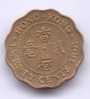 HONG KONG 1991: 20 Cents, KM 59 - Hong Kong