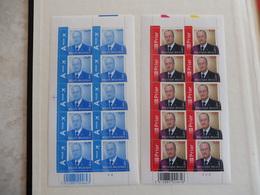 Belgique Belgie Kleine Blad Petite Feuille Numero 3416/17 Planche 2/4 Albert - Feuilles Complètes
