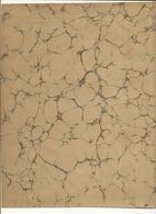 Lot 9 ,Papier Marbrée . 3 Feuilles, Caillouté Anciens Pour Restauration De H .29 Cm Sur L. 22 Cm ,Papier Annonay Ancien - Loisirs Créatifs