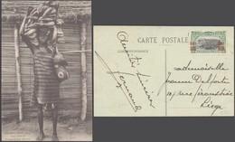 Carte Postale - Madimba (Moyen Congo) : Femme Portant Des Bananes / Ecrite. - Afrique