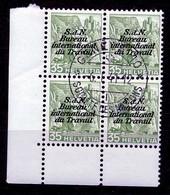 Dienstmarken/Timbres De Service: B.I.T .- Mi Nr 46z (Viererblock) - Gest./obl. - Dienstzegels