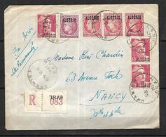 Algérie  Lettre  Par AVION EN Recommandé     Du  16 06 1947    De Alger Pour  Nancy - Storia Postale