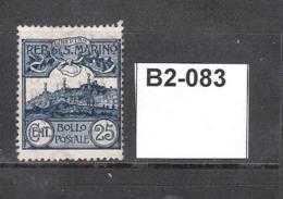 San Marino 1903 25c Blue - Used Stamps