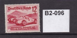 Germany 1939 Int Motor Show, Berlin And Culture Fund. 12+8pf (MM) - Ungebraucht