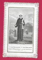 IMAGE PIEUSE/ CANIVET / DENTELLE.édit. Turgis...SAINT JEAN DISCALCEAT De L'Ordre De St François D'Assisse (1280-1349) - Images Religieuses