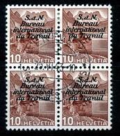Dienstmarken/Timbres De Service: B.I.T .- Mi Nr 60a (Viererblock) - Gest./obl. - Dienstzegels