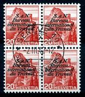 Dienstmarken/Timbres De Service: B.I.T .- Mi Nr 61 (Viererblock) - Gest./obl. - Dienstpost