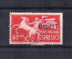 Italia -Trieste - Zona A - A.M.G. F.T.T. - 1950 - Espresso Del 1947 Sovrastampato Su 1 Riga - Usato - (FDC21248) - 7. Trieste