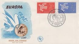 Enveloppe  FDC  1er   Jour   FRANCE    Paire   EUROPA    LENS    1961 - 1960-1969