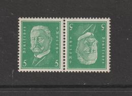 ALLEMAGNE - 402a De 1928-32 - Neuf ** - Tête-bêche - Série : Président . 5p. Vert Clair  -  2 Scannes - Nuevos