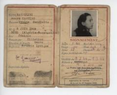 ° WW2 ° ETAT FRANCAIS ° CARTE D'IDENTITE DE FRANCAIS ° MARSEILLE 1944 ° - Documents Historiques