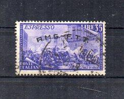 Italia -Trieste - Zona A - A.M.G. F.T.T. - 1948 - Centenario Del Risorgimento - Espresso - Usato - (FDC21250) - 7. Trieste