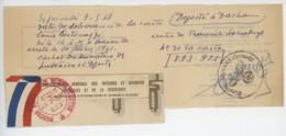 ° RECHERCHE DE PERSONNE ° CACHET ALLEMAND DE LA WEHRMACHT ° Confédération Générale Des Internés Et Déportés - Documents Historiques