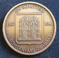 100 SCHUTTERS 1567-1984 MECHELEN-AAN-DE-MAAS - Gemeentepenningen