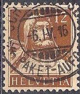 Schweiz Suisse Tell 1914: Tell Zu 127 Mi 119 Yv 139 Mit Voll-o SCHAFFHAUSEN 6.IV.16 PAKET-AUFGABE (Zumstein CHF 10.00) - Usati