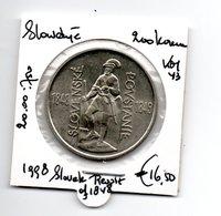 SLOWAKIJE 200 KORUN 1998 ZILVER 150th REVOLT OF 1848 - Slovaquie