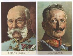 2AK's Franz Joseph - Wilhelm II. Stengel Postkarten Ansichtskarten Ungelaufen - Familles Royales