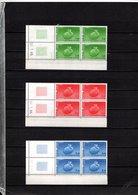 France Service N° 85/87**, Blocs De 4 Coin Daté 1985, Superbes - Esquina Con Fecha