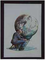 Carte Kaart Boomerang Belgique WATER Oxfam Wereldbol Die Gemolken Wordt Traire Une Globe Tekening Dessin GAL - Illustrators & Photographers