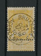 OCB 54 Met Stempel BRUXELLES / AGENCE N° 3 - Marcofilia