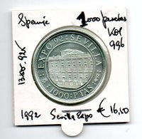 SPANJE 1000 PESETAS 1992 ZILVER SEVILLA EXPO - 1 000 Pesetas