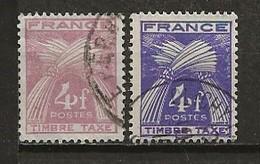 FRANCE:, Obl., TAXE N° YT 84 X 2, Nuances, TB - 1859-1955 Usati