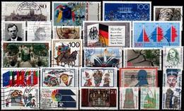 # 1989 Germania Federale - 25 Francobolli Usati - Usados