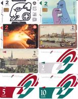 8 Télécartes LETTONIE Lot1 - Lettonie