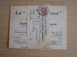 ENVOI + DOCUMENT LA MISE AU POINT ETABLISSEMENTS GAUMONT PHOTOGRAPHIQUES JUILLET 1913 - Poststempel (Briefe)