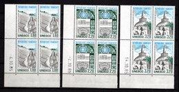 France Service N° 88/90**, Blocs De 4 Coin Daté 1985, Superbes - Esquina Con Fecha
