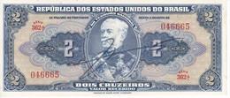 BILLETE DE BRASIL DE 2 CRUZEIROS DEL AÑO 1944 CON FIRMA CALIDAD EBC (XF)  (BANKNOTE) - Brésil