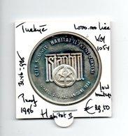TURKIJE 100000 LIRA 1995 ZILVER PROOF HABITAT II LOW MINTAGE - Turquie