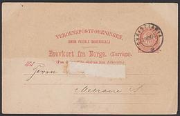 Norge Norwegen Brevkort CHRITIANIA 1900 Ganzsachenkarte Nach Meerane In Sachsen - Briefe U. Dokumente