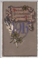 (30644) AK Neujahr, Prägekarte Mit Golddruck 1915 - New Year