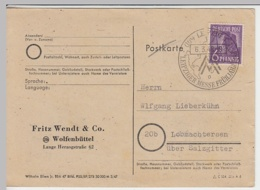 (31033) Postkarte Leipziger Messe 1948 V. Fritz Wendt & Co. Wolfenbüttel - Sin Clasificación