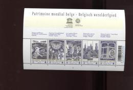 Belgie Blok Feuillet BL168 UNESCO PLAATNUMMER 5 World Heritage Brugge Brussel Horta Tournai Spiennes - Blocks & Sheetlets 1962-....