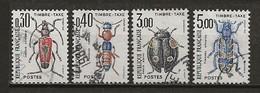 FRANCE:, Obl., TAXE N° YT 109 à 112, Série, TB - 1960-.... Oblitérés