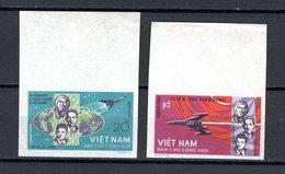 VIETNAM DU NORD   N° 417 + 418 NON DENTELES  NEUFS SANS CHARNIERE COTE 16.50€   ESPACE - Viêt-Nam
