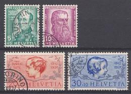 Suisse 1937  Mi.Nr: 314-317 Pro Juventute  Oblitèré / Used / Gebruikt - Suisse