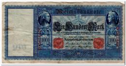 GERMANY,100 MARK,1909,P.38,F-VF - [ 2] 1871-1918 : German Empire