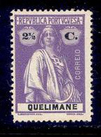 ! ! Quelimane - 1914 Ceres 2 1/2 C - Af. 30 - MH - Quelimane
