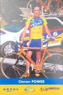 Postcard Ciaran Power  -  Saint Quentin - Oktos  - 2001 - Ciclismo