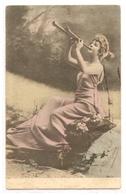 FF 454 OLD ( 1901 )  FANTASY POSTCARD ,  FINE ART  , FEMALE FIGURATIVE , - Mujeres