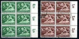 F0058 - DEUTSCHES REICH - Mi. Z738 + Z739 Im Sechserblock (selten), 1 X Z739 Gering Bügig - Oblitérés