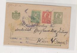 ROMANIA 1920 Postal Stationery To Austria - 1918-1948 Ferdinand I., Charles II & Michel