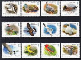 2015 St. Helena Bird Definitives Complete Set Of 12 MNH - St. Helena