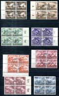 F0065 - DEUTSCHES REICH - Mi. 831-838 In Viererblocks Mit Sonderstempel - 838 Oben Rechts Zahnfehler - Oblitérés