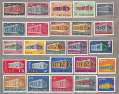 EUROPA 1969 Year Stamps Complete MNH (**) #18940 - Collections (without Album)